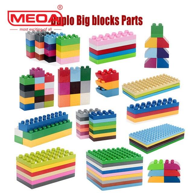 US $0 25 |Big Bricks Duplo Building blocks Parts ABS Material Enlighten  Creative bricks Decool Legco Compatible minecraft DIY blocks 1pcs-in Blocks