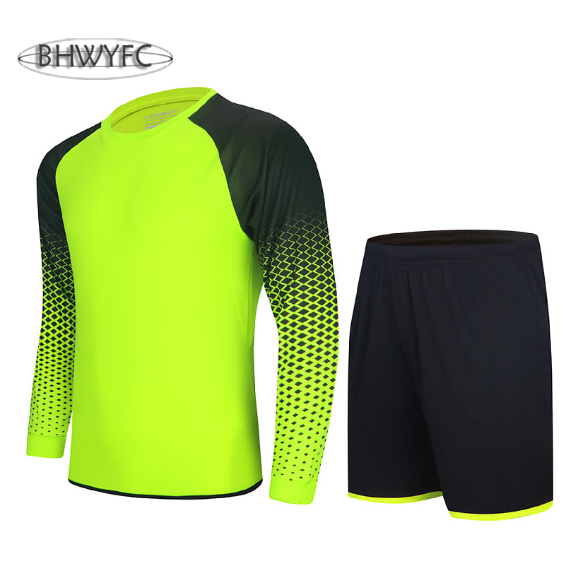 BHWYFC Men Goalkeeper Jersey 2017 Soccer Sport Suit Protector Doorkeeper Football Sponge Protector Male Goal Keeper Training