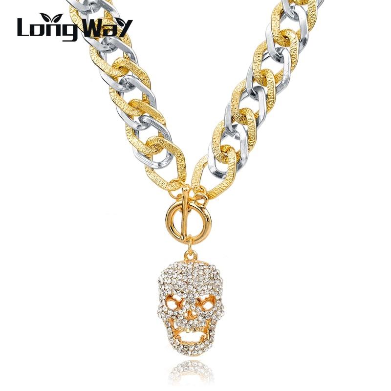 LongWay Statement Necklaces For Women Vintage Long Gold Color ...