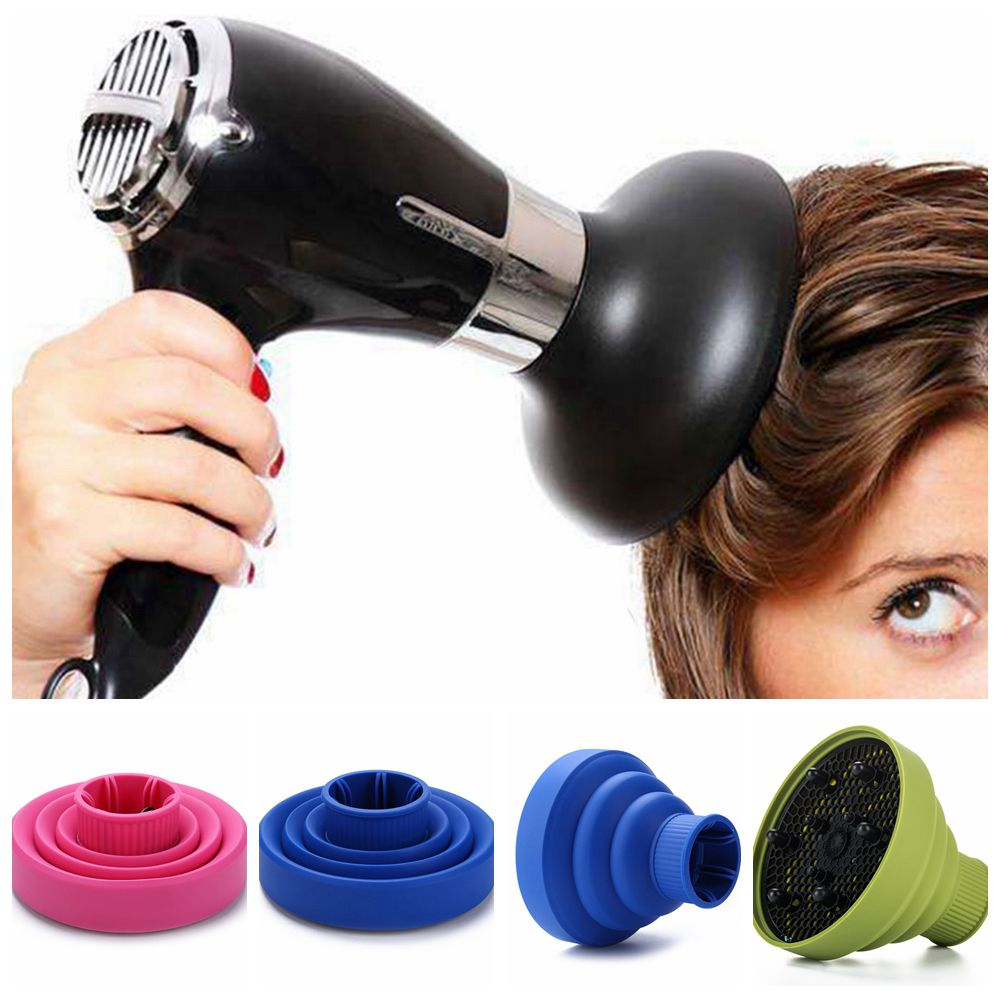 Professional Hairdryer Diffuser Cover Silica Gel Collapsible High Temperature Resistant Hair BlowerHood Hairdressing Salon Tools