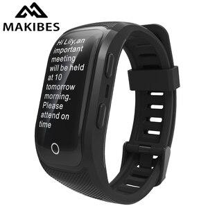 Image 1 - Livre shippingG03 Plus Tela Colorida Pulseira IP68 Rastreador GPS À Prova D Água Dos Homens De Fitness Banda Inteligente pulseira relógios para Android ios