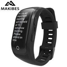 Makibes G03 Plus couleur écran hommes Fitness Tracker bracelet IP68 étanche GPS bracelet intelligent montres bracelet pour Android ios