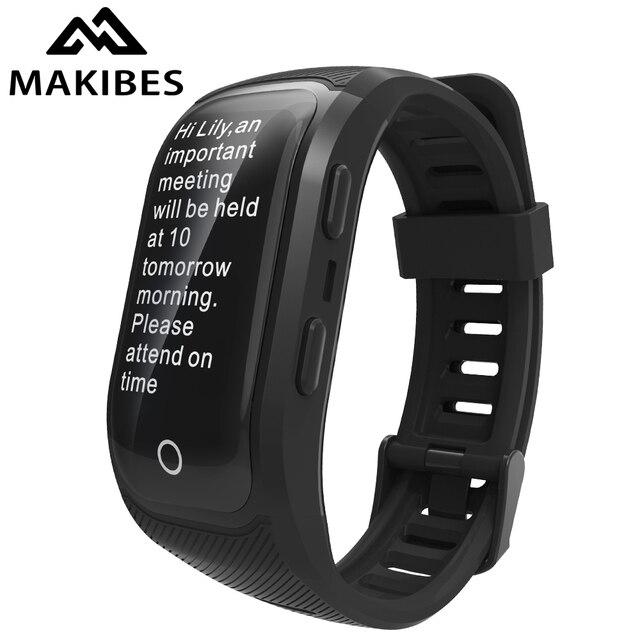Makibes G03 artı renkli ekran erkek spor takip bilekliği IP68 su geçirmez GPS akıllı bant saatler bilezik Android ios için