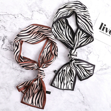 2019 Designer Silk Scarf for Women Print Skinny Hair Neck Scarfs Office Lady Fashion Neckerchief Female Headband Bag Scarves