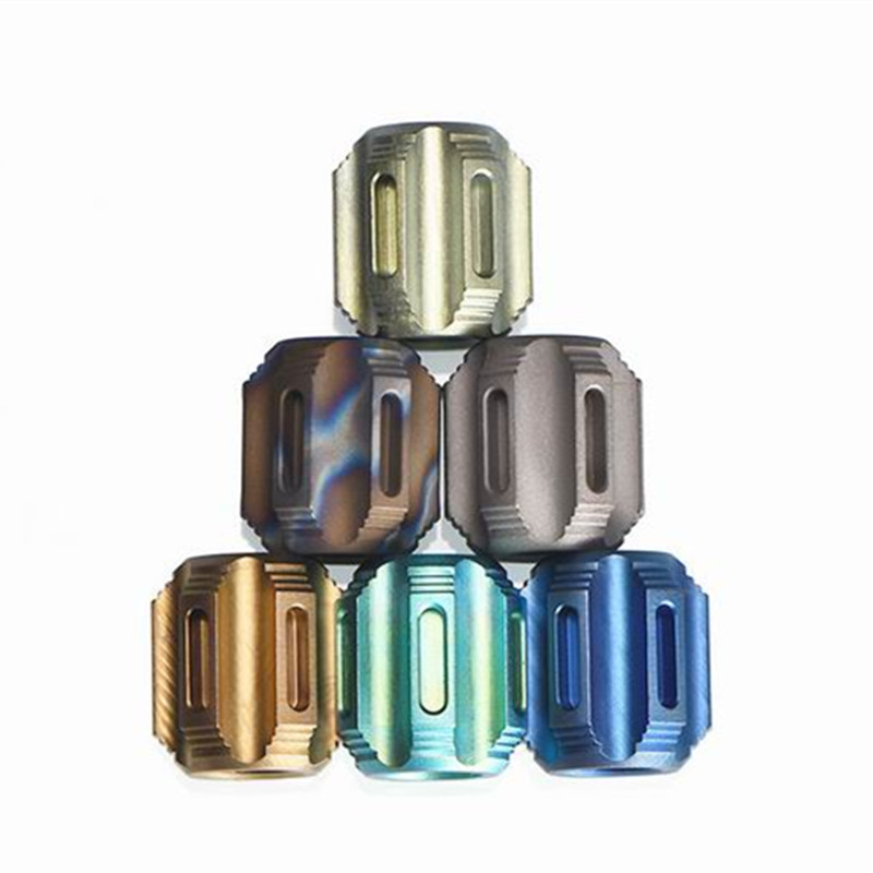P Titanium Alloy Knife Lanyard Knife Beads Paracord Can Fits 6pcs Tritium Tube Solid Outdoor Zipper Pull Bead EDC Multi Tools