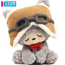 Candice guo plush toy stuffed doll cartoon cute dream pilot lucky cat pillow cushion super soft children christmas birthday gift