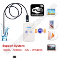 9mm de diámetro usb endoscopio wifi 1/2/3.5/5 m cable mini cámara 30 m wifi distancia ip66 ios android iphone pc cámara de seguridad a prueba de agua
