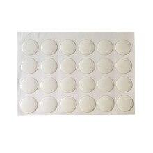 50 шт 25 мм/20 мм круглые прозрачные эпоксидные клейкие круги, крышки для бутылок, наклейки для рукоделия, BTN-5726