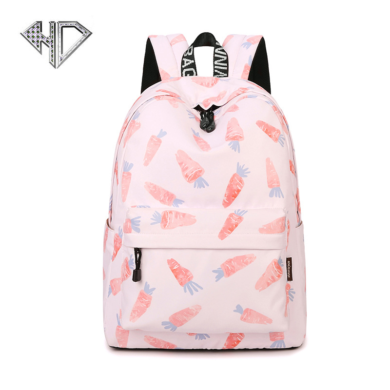 School Backpack Cute Printing Backpacks For Girls Casual Bags For Ladies Polyester High Quality Women Travel Shoulder Bags E0F3