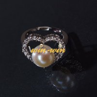 925 Sterling Silver FREE SHIPPING Fashion Freshwater Pearl Ring, Beautiful Finger Wedding/Bridal/Engagement Jewelry 3 PCS/LOT