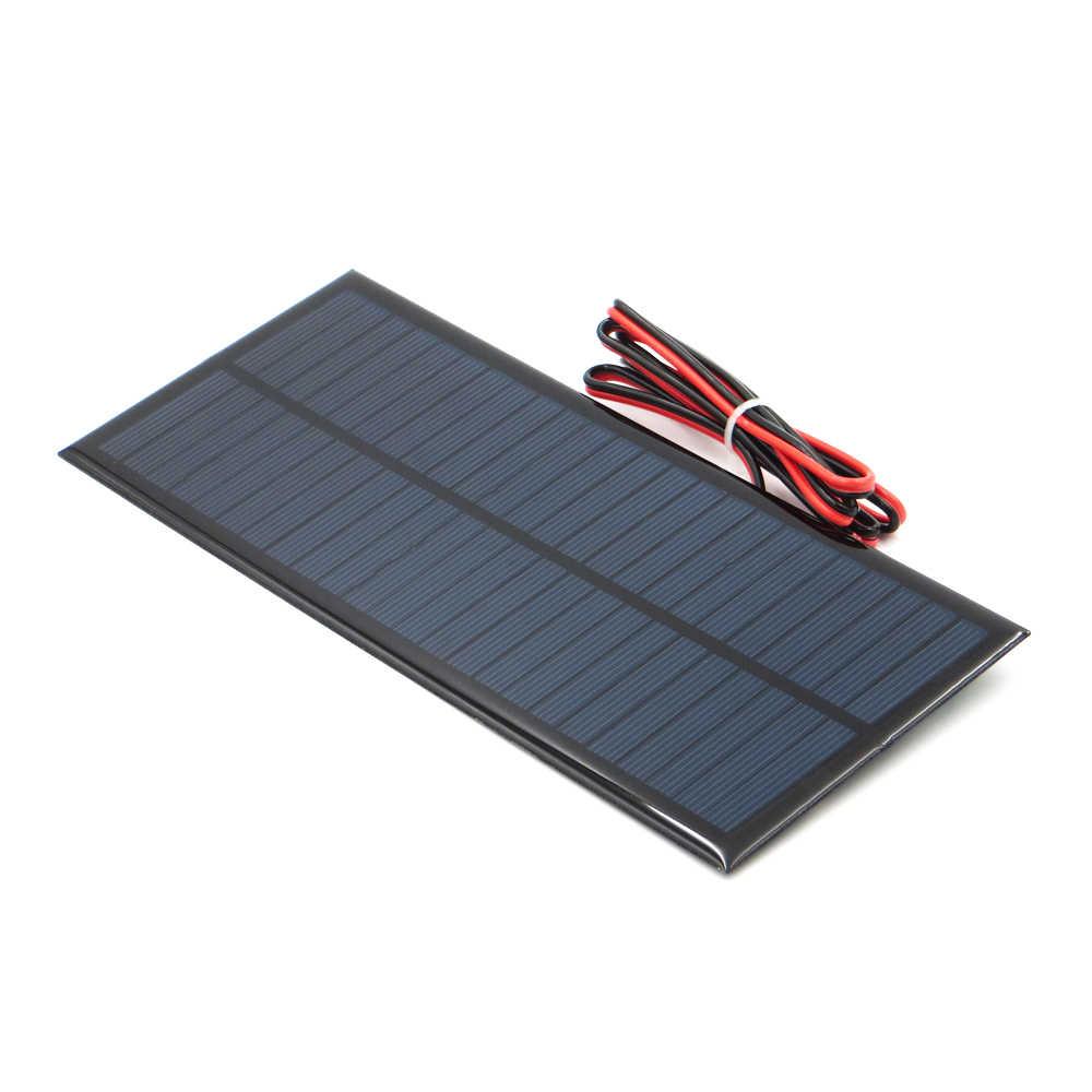 12 فولت 2.5 واط لوحة طاقة شمسية صغيرة محمولة لتقوم بها بنفسك وحدة نظام لوحات للطاقة الشمسية بطارية مصباح اللعب شاحن الهاتف خلايا فولت 12 فولت 2.5 واط واط