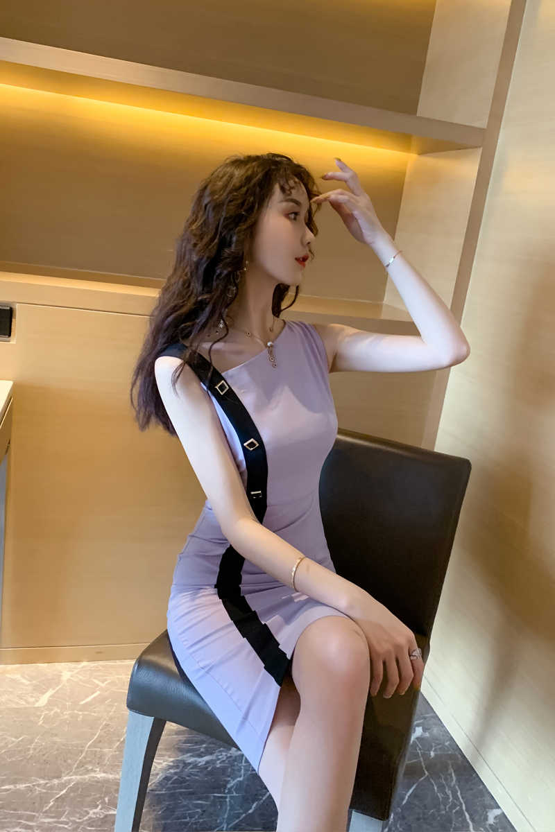 משלוח חינם קיץ שמלת V צווארון Slim סקסי נשים שמלה