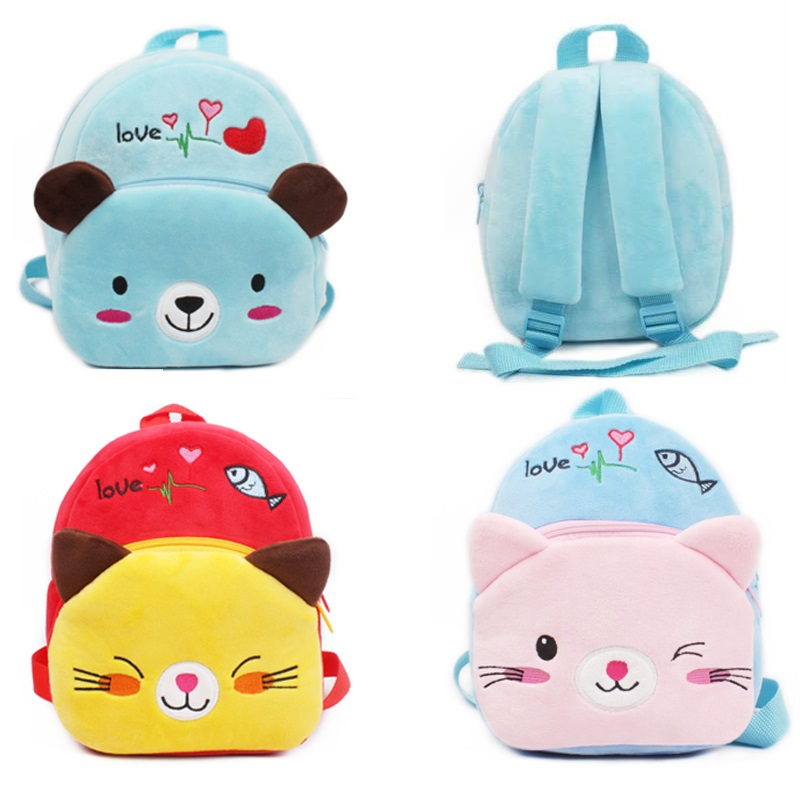 New Arrival High Quality Kindergarten Baby Plush School Bags Cartoon Soft Children Mini Backpacks Candy Bags Toy For Boys Girls