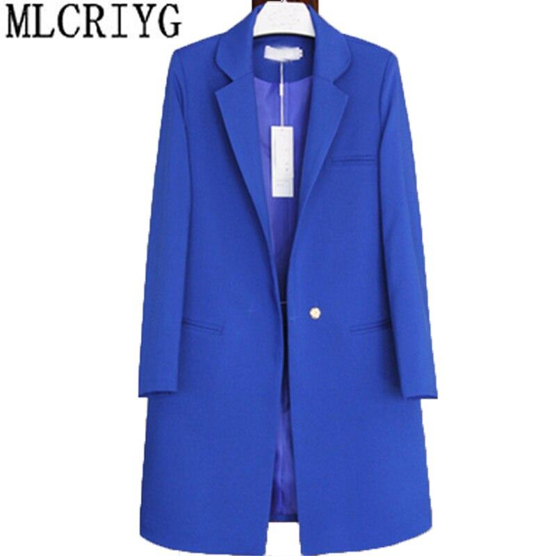 Grande taille 3XL 2019 nouveau chaud élégant confortable Blazer femmes vestes coréen printemps automne costume vêtements d'extérieur pour femmes LX20