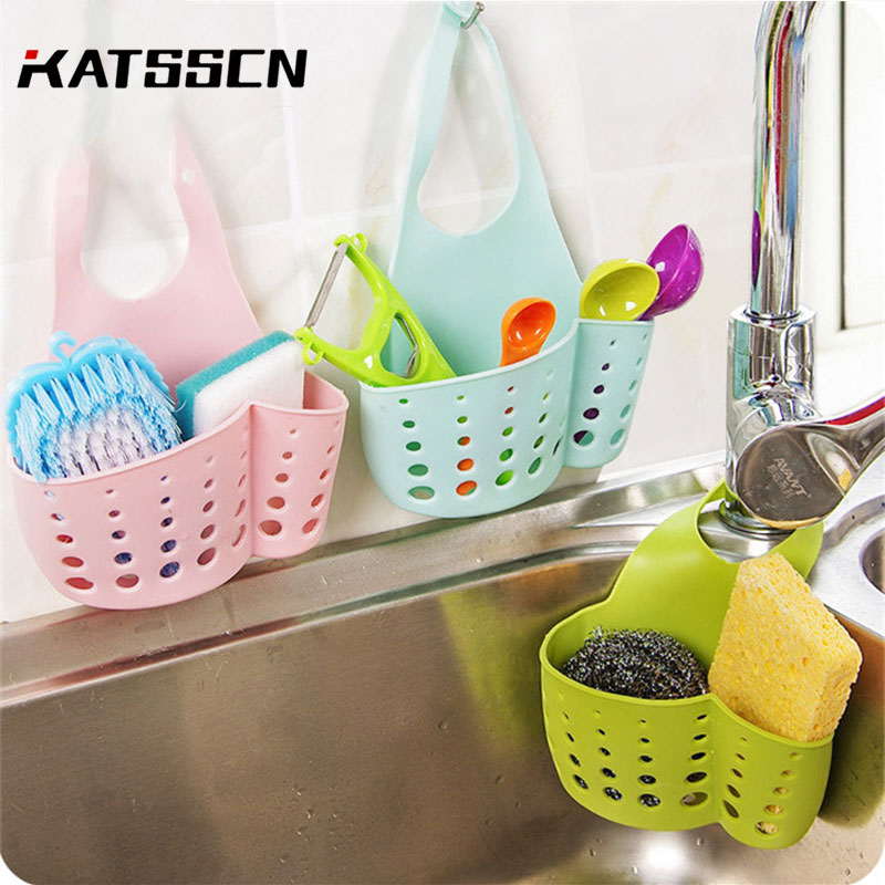 Kitchen Sink Sponge Holder Draining Rack Sink Kitchen Hanging Drain Storage Tools Storage Shelf Sink Holder Drain Basket