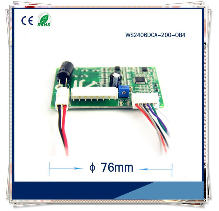 Micro Brushless DC Fan Driver 12V or 24V Brushless Motor Controller WS2406TYC-200-OB4
