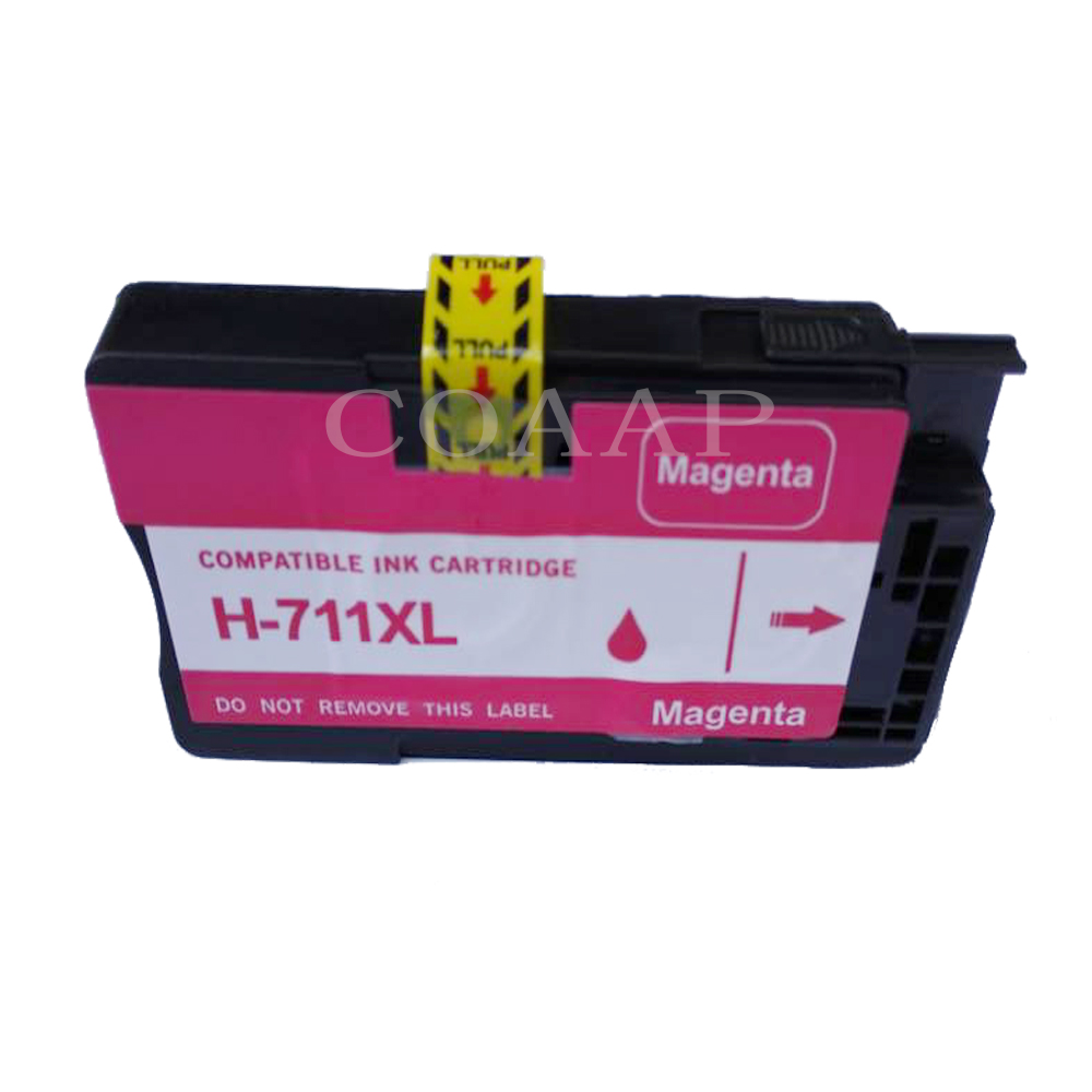 8 Compatible HP 711 XL CZ133A CZ130A CZ131A CZ132A Replacements Ink Cartridges for HP DesignJet T 520 / 120 Printers for hp711