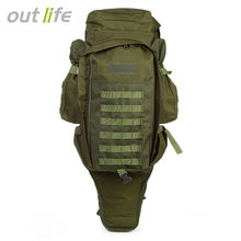 Outlife 60L Outdoor Backpack Military Tactical Bag Pack Rucksack for Hunting Shooting Camping Trekking Hiking Traveling(China)