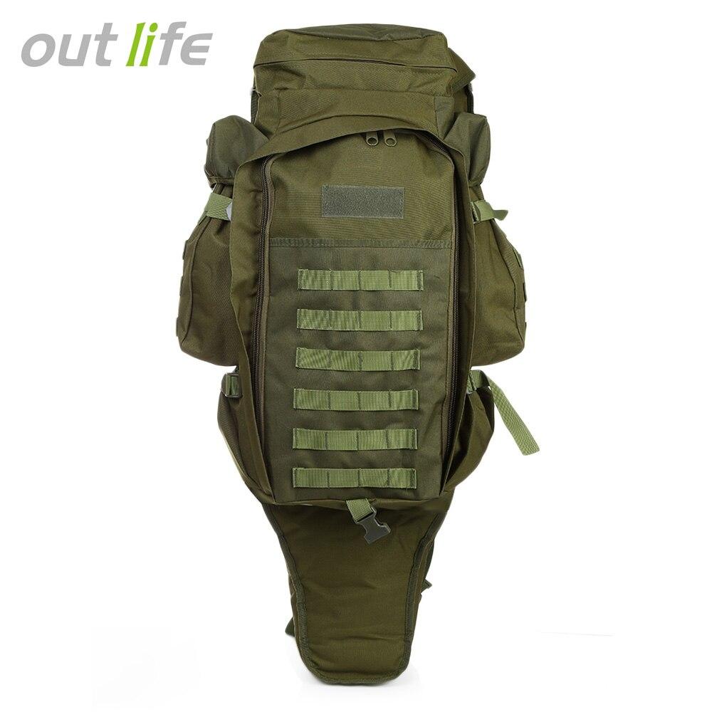 Outlife 60L al aire libre mochila táctica militar bolsa de mochila para caza tiro Camping Trekking senderismo
