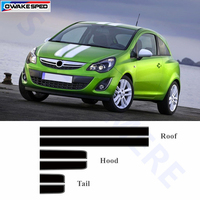 1 set Car Hood Roof Tail Decor Sticker Racing Sport Styling Auto Body Customized Decal For Opel Corsa Astra Fit On 3 5 doors