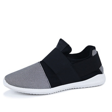 low-cost free transport air mesh cloth mens loafers black white shade fabric patchwork leisure canvas sneakers for mans cool stroll sneakers