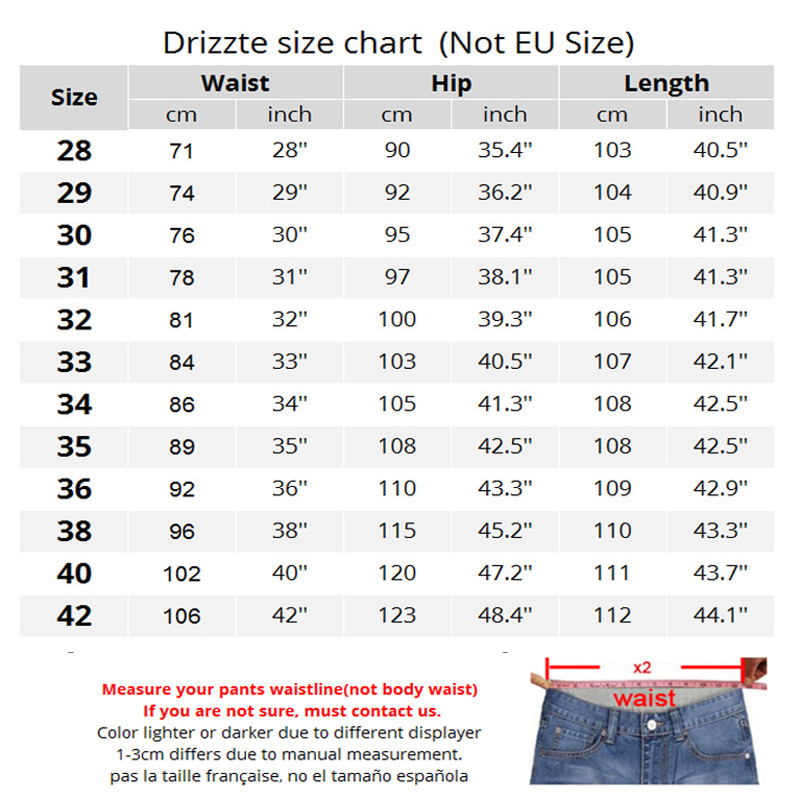 Drizzte Brand New Fashion Mens Jeans Slim Stretch Pants Thin Denim Trousers Size 35 36 38 40 42 Lightweight Jeans for Men 3