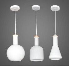 Nordico Design Bedroom Pendant Lamp Art Gass Bottle Luminaire Home Decor Modern Light Fixtures For Restaurants 110-240V Lighting