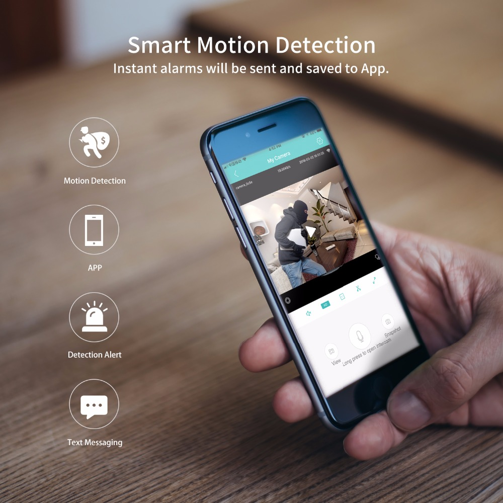 SDETER Home Security IP Camera Wi-Fi 1080P 720P Wireless Network Camera CCTV Camera Surveillance P2P Night Vision Baby Monitor