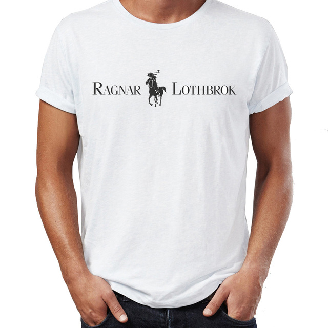 Men's T Shirt Vikings Ragnar Lothbrok On Horse Back Funny Badass Tee