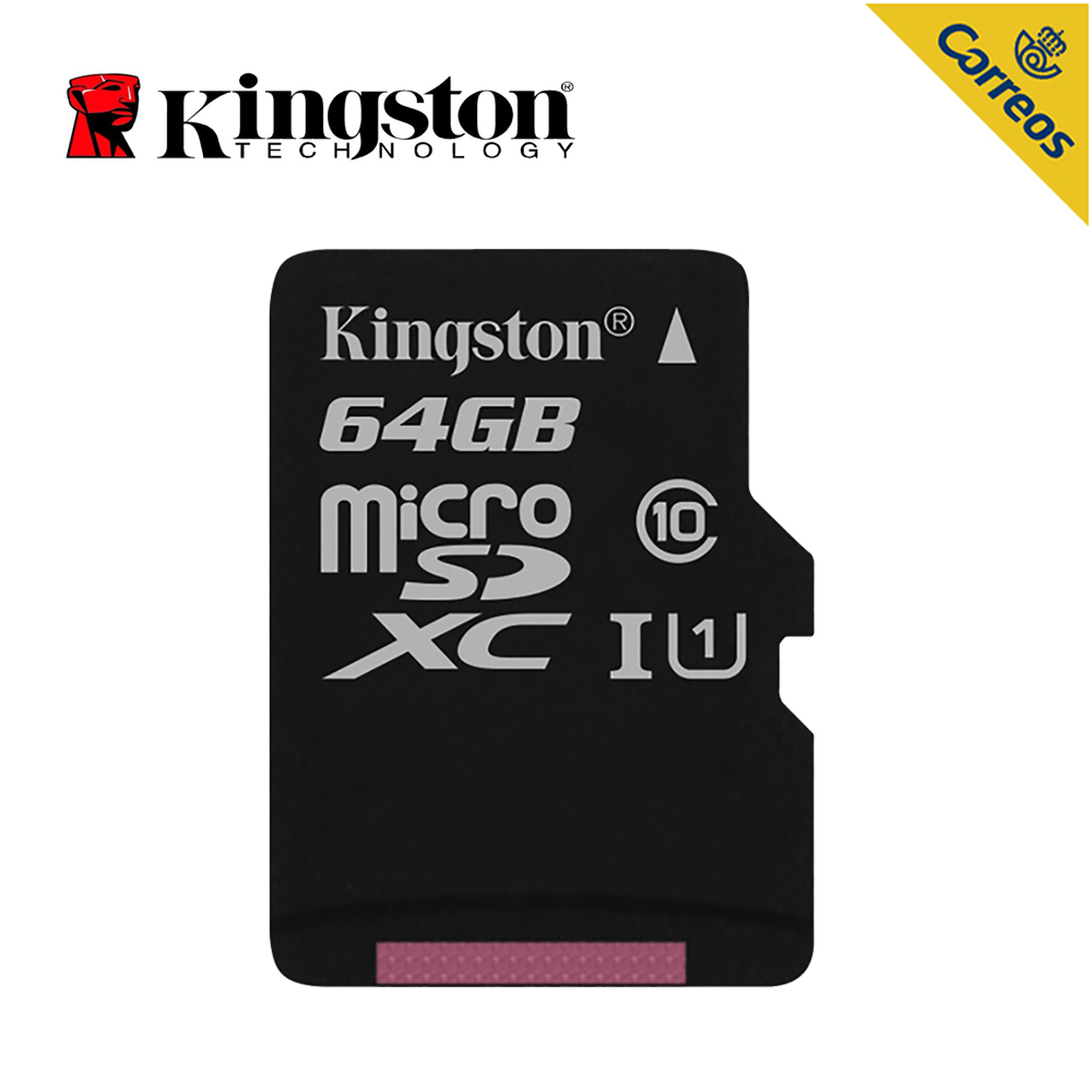Kingston Technology Canvas Select 64 GB, MicroSDXC, Class 10, UHS-I,80 MB/s, Black Memory Card  For Smart Phone,tablet