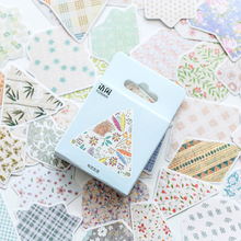 50pcs/box Cute Cloth Life Mini Paper Label Sealing Stickers Diary  Scrapbooking Decorative DIY Stationery