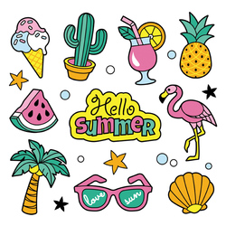 Summer Pineapple Patches Flamingos Washable Clothing Deco Heat Transfer Badges New Design Diy Accessory Iron-On Transfer