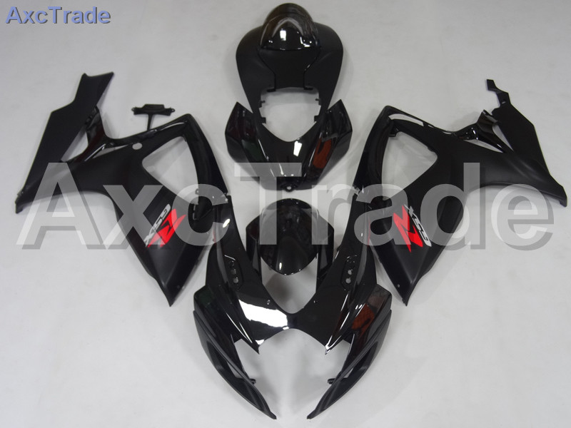 Motorcycle Fairings For Suzuki GSXR GSX-R 600 750 GSXR600 GSXR750 2006 2007 K6 ABS Plastic Injection Fairing Bodywork Kit Black injection mold fairing 2006 2007 for suzuki gsx r 600 750 k6 k7 plastic bike bodywork red frame free brand logo decal