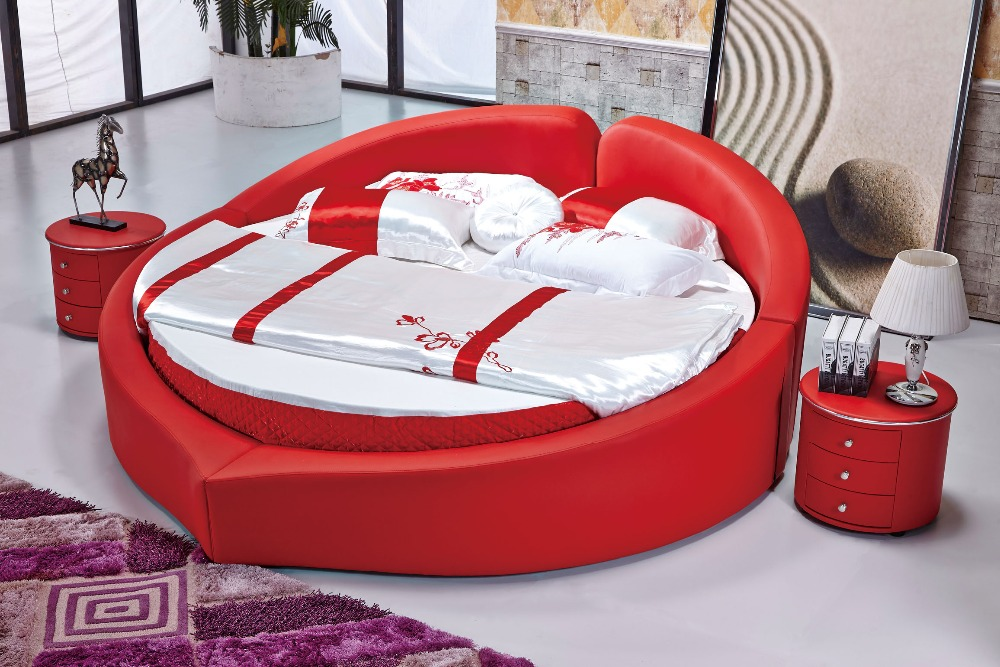 The modern design of the soft leather bed   gold   large double bedroom  furniture  modern style round bed room. Popular Double Bedroom Furniture Buy Cheap Double Bedroom