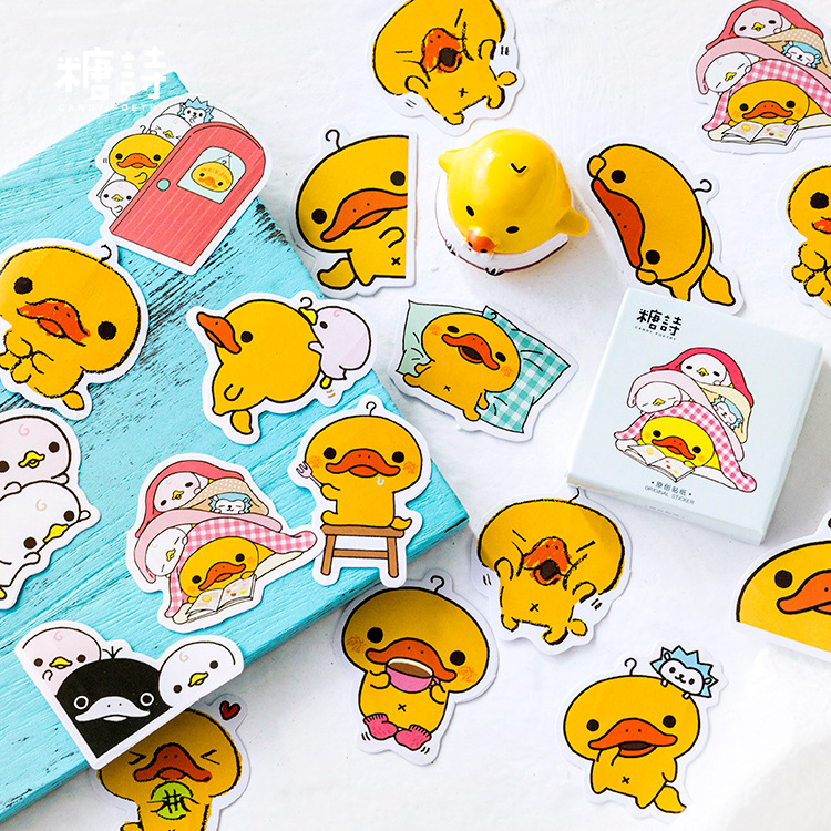45pcs/pack Adorable Duck Decorative Stationery Stickers Scrapbooking DIY Diary Album Stick Label