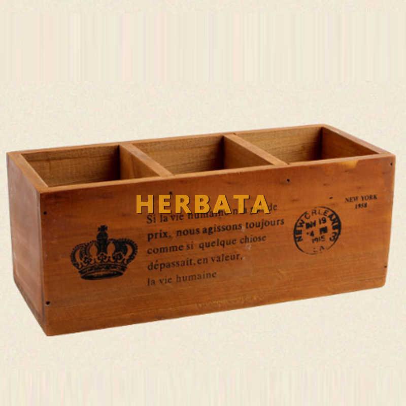 Деревянные ящики для хранения Ящики креативная деревянная коробка карандаш ваза ручка контейнер настольная коробка для хранения офисный стол органайзер украшение дома