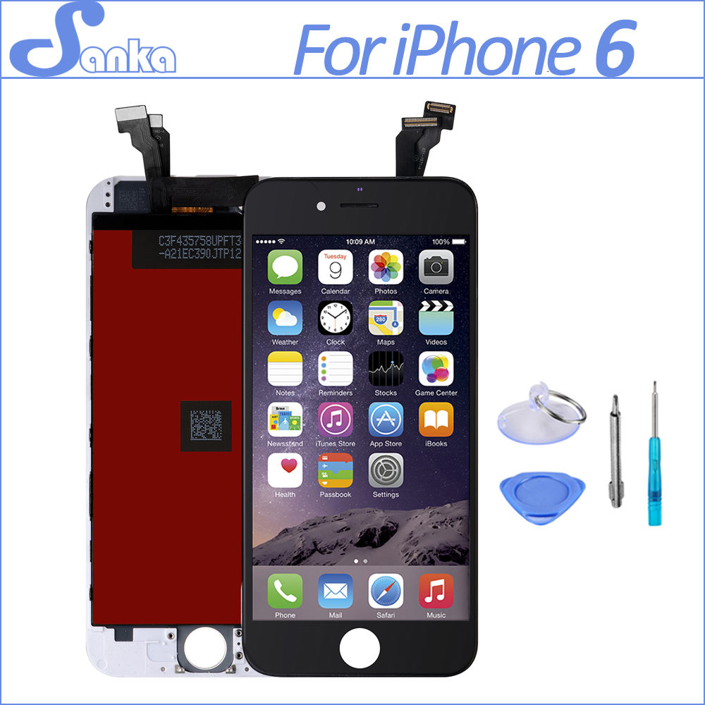 SANKA For iPhone 6 6plus 6s LCD Touchscreen Display Digitizer Assembly Replacement Screen Mobile Phone Parts With ToolsSANKA For iPhone 6 6plus 6s LCD Touchscreen Display Digitizer Assembly Replacement Screen Mobile Phone Parts With Tools