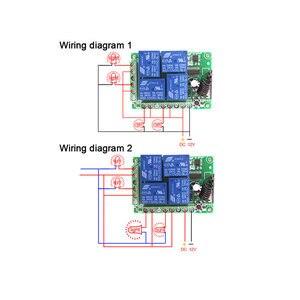 Image 3 - QACHIP 433 MHz ไร้สายรีโมทคอนโทรลสวิตช์ DC 12V 4 CH RF รีเลย์ตัวรับสัญญาณรีเลย์ + รีโมทคอนโทรล RF 433 MHz เครื่องส่งสัญญาณ DIY