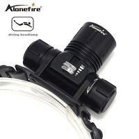 Alonefire dv42 luzes de mergulho subaquático iluminação faróis 6000 lumen xml l2 led mergulho farol à prova dwaterproof água cabeça tocha lâmpada