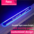 Free Shipping!!4pcs Car Led moving door scuff car pedal door sill plate steps light welcome pedal for Lexus rx350 gx470 gs300 IS