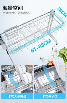Faltschalen Wäscheständer | 2019 Neue 304 Edelstahl Küche Dish Rack Platte Besteck Tasse Teller Abtropffläche Waschbecken Trocknen Rack Küche Organizer Lagerung Halter