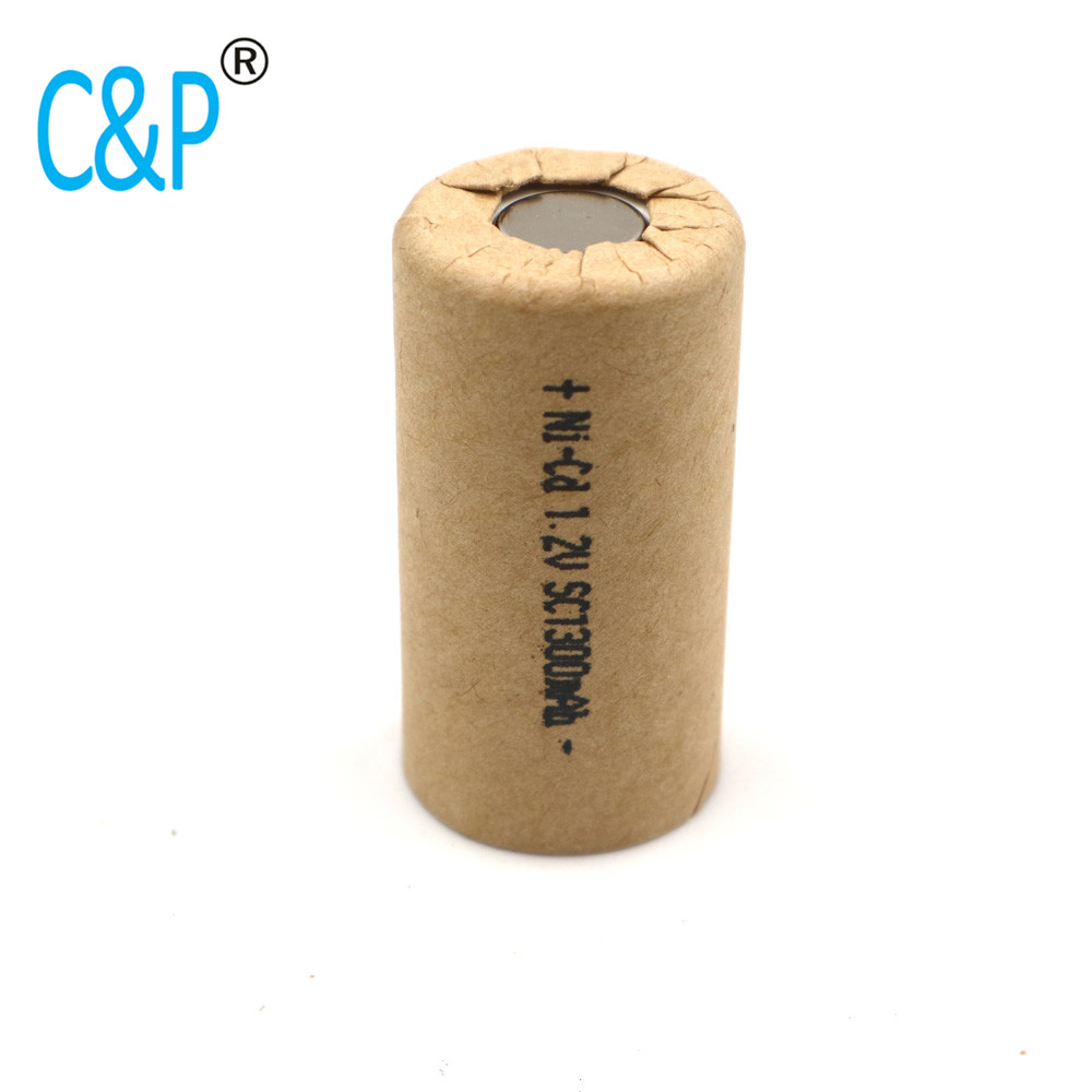 SC1300mAh 1.3Ah NI-cd,high power battery cell,power tool battery,Power Cell,discharge rate 10-15C.rechargeable battery batteries 471 540 irregular cell battery