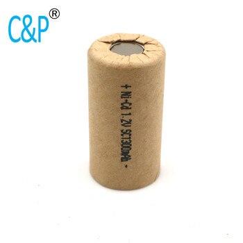 SC1300mAh 1.3Ah ni-cd, akumulator o dużej mocy, akumulator do elektronarzędzi, ogniwo energetyczne, szybkość rozładowania 10-15c.akumulatory