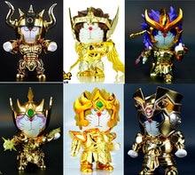Seiya Gold Saint TaurusราศีเมถุนราศีธนูราศีพิจิกราศีเมษDoraCat 15ซม.Action Figureของเล่นการ์ตูนอะนิเมะหุ่นยนต์Doraemonคอสเพลย์