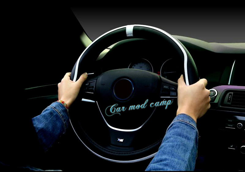 For BMW 5 SERIES G30 2017 2018 Leather font b Interior b font Steering Wheel Cover