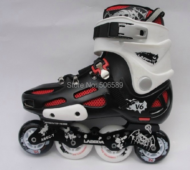 Free Shipping Roller Skates Shoes Adults V 6 Pu Wheels 83A