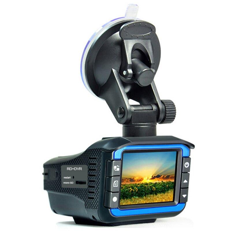Portable Auto Radar Détecteurs avec DVR Dash Cam Véhicule Anti Police Vitesse Contrôle Sécurité Voix Alarme 2 dans 1 Radar détection