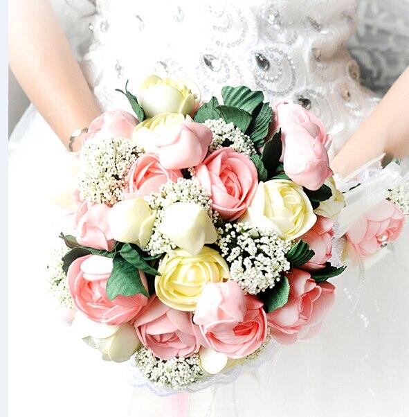 Bouquet Sposa Economico.Us 39 99 2017 New Arival Bouquet Da Sposa Romantico Economici Unico Peonia Colorato Fatti A Mano Da Sposa Artificiale Di Cerimonia Nuziale Damigella