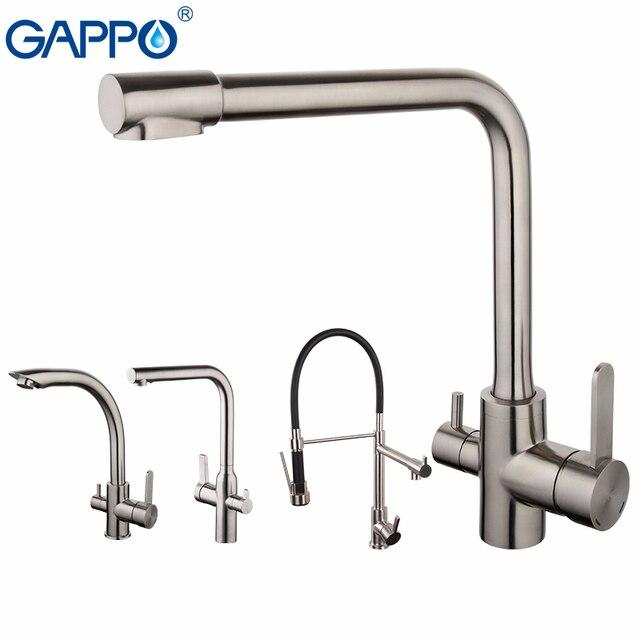 GAPPO Rubinetto Della Cucina griferia con acqua filtrata rubinetti da cucina in acciaio inox rubinetto di acqua potabile lavello miscelatore cascata rubinetti