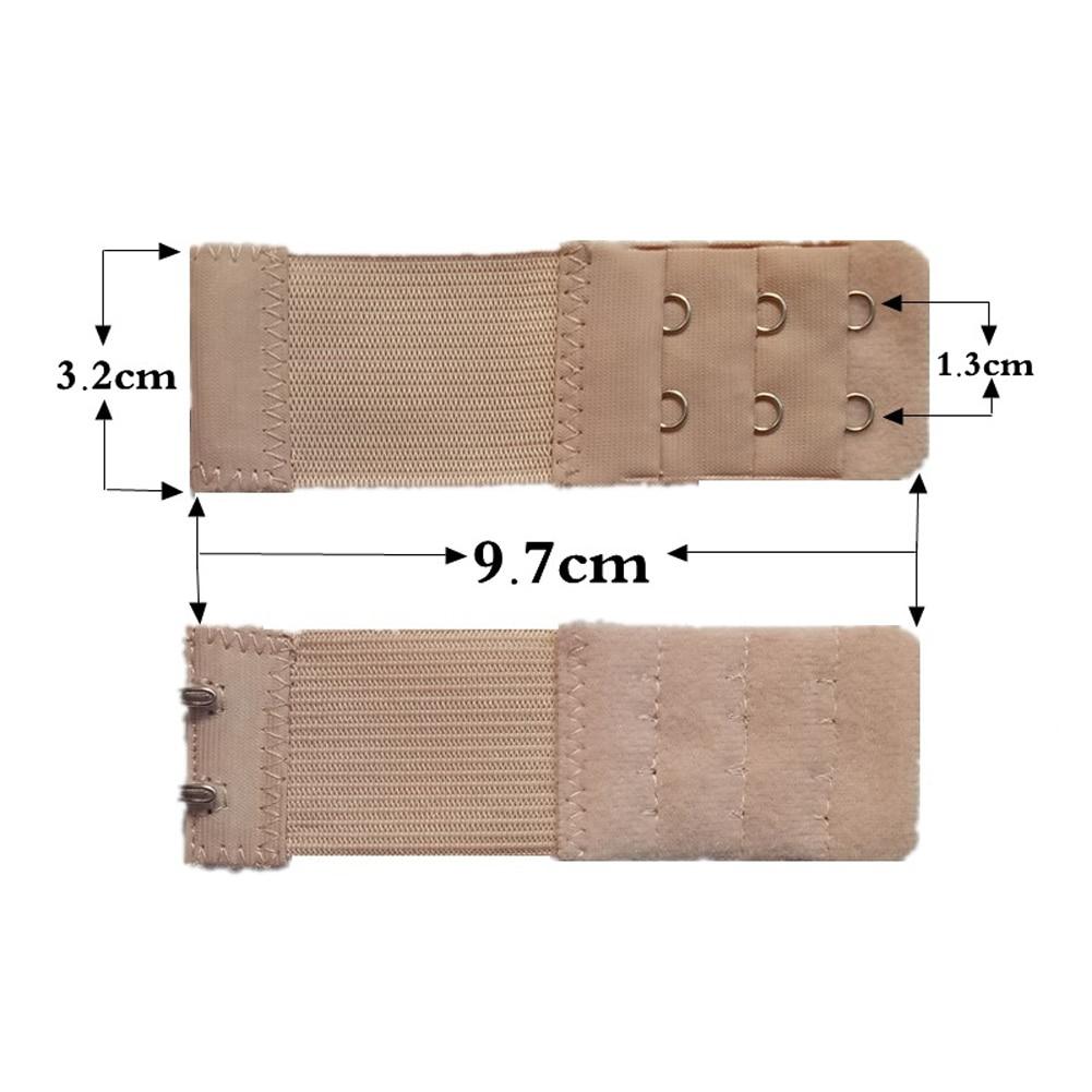 Женский бюстгальтер с 3 рядами, 2 крючка, эластичный, регулируемый, удлиненный, застежка, покрытая пуговицей, нижнее белье, аксессуары для бюстгальтера - Цвет: Хаки